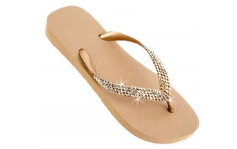 Rose Gold Swarovski Crystal Lined Havaianas