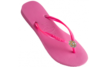 Havaianas Slim Crystal Flower - Bright Pink